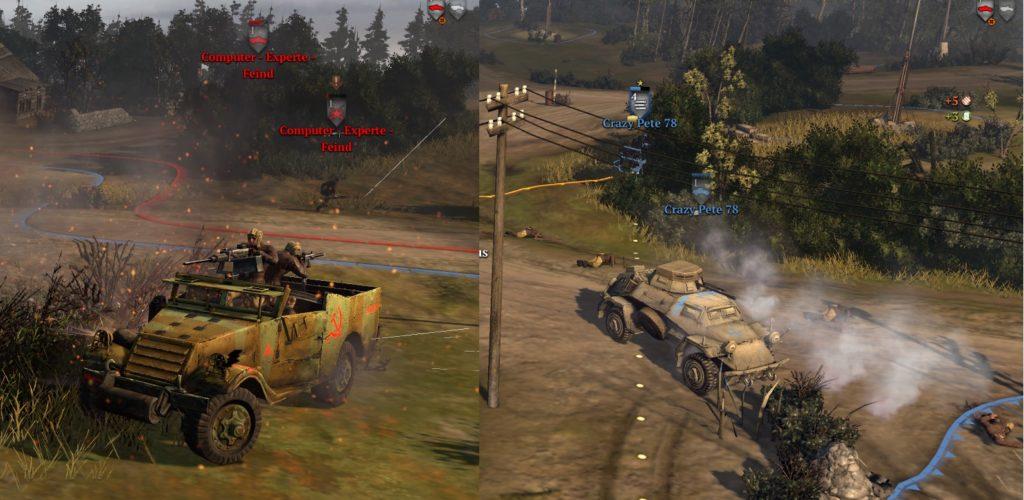 Company of Heroes 2 - M5 Halftrack vs. SdKfz 221-222 Spähpanzer