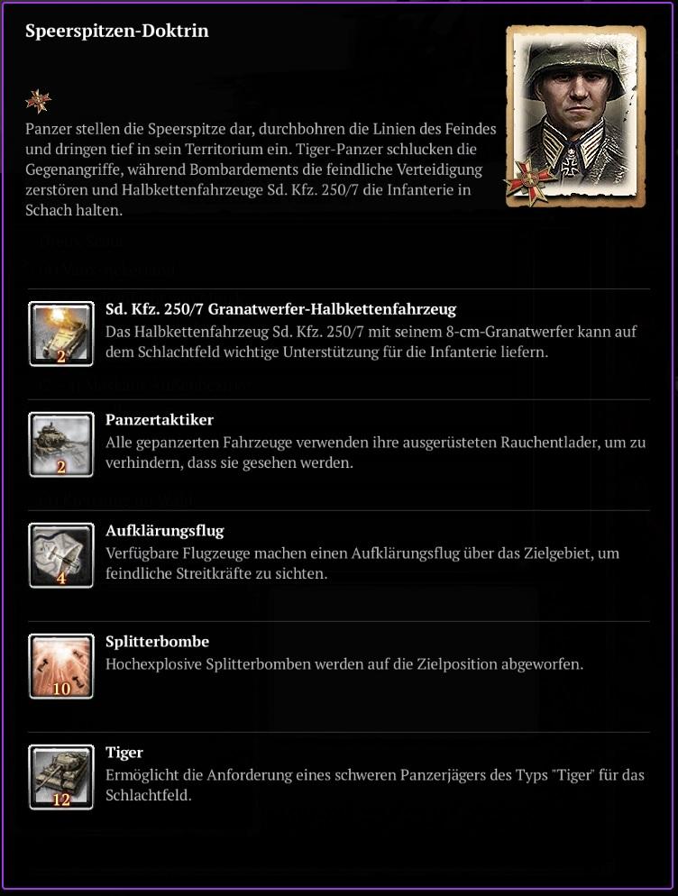 COH2 - Wehrmacht - Speerspitzen Doktrin